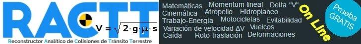 RACTT® – Reconstructor Analítico de Colisiones de Tránsito Terrestre