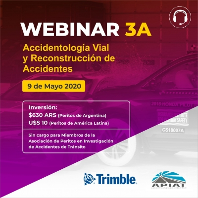 WEBINAR 3A Accidentología Vial y Reconstrucción de Accidentes